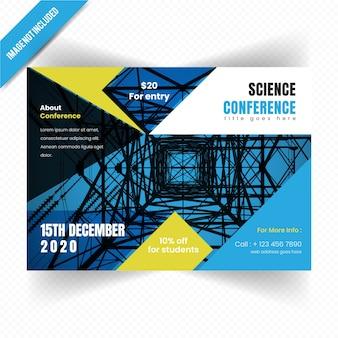 Horizontale broschüren-schablone der wissenschafts-conference