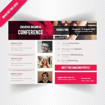 Horizontale conference flyer vorlage