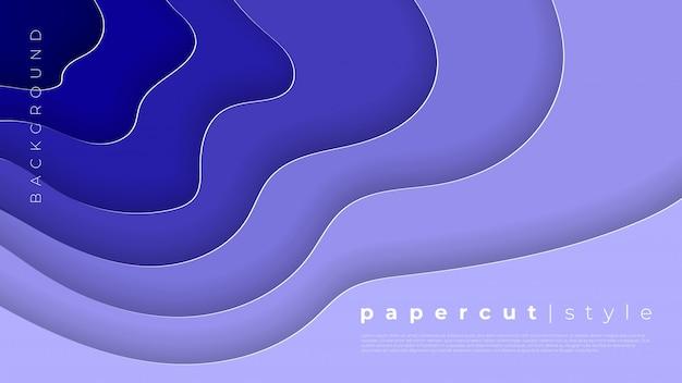 Horizontale fahnen mit abstraktem hintergrund 3d und papier schnitten formen.