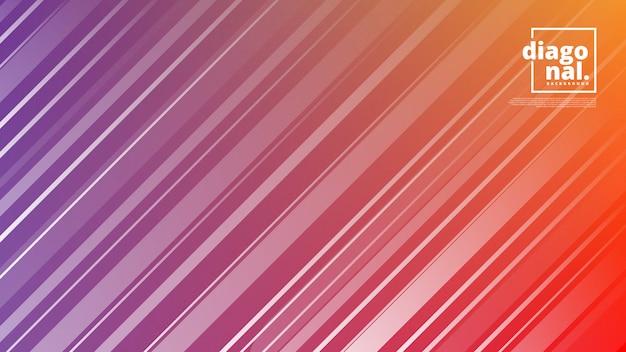 Horizontale fahnen mit abstrakten hintergrund- und diagonallinienformen.