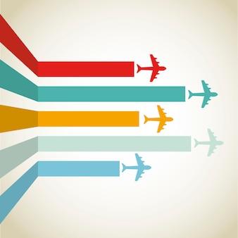 Horizontale flugzeuglinie