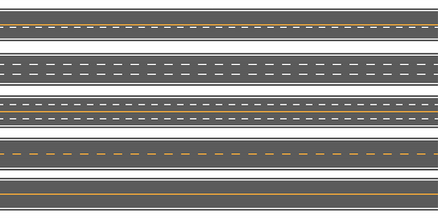 Horizontale gerade nahtlose straßen, straße, landstraßen