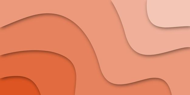 Horizontale geschäftsfahne mit hintergrund 3d-formen im papierschnittstil