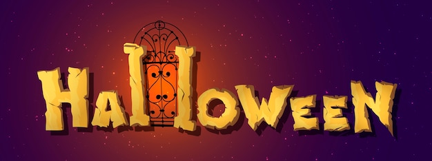 Horizontale halloween-grußfahne