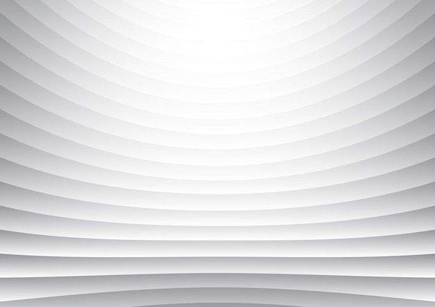 Horizontale kurve des abstrakten streifenmusters zeichnet weißen und grauen hintergrund und beschaffenheit.