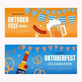Horizontale oktoberfest-banner eingestellt