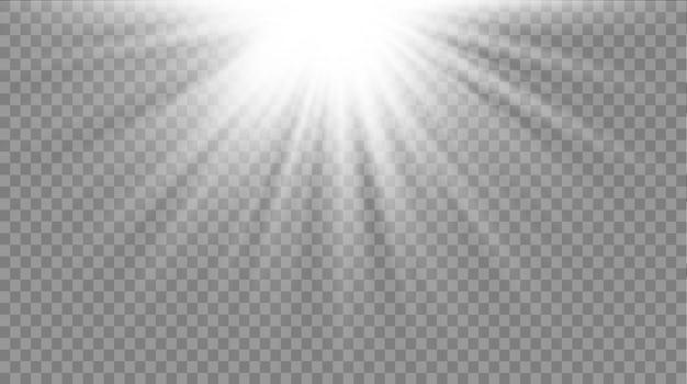 Horizontale sternstrahlen und suchscheinwerfer.