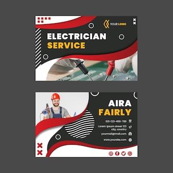 Horizontale visitenkarte des elektrikers
