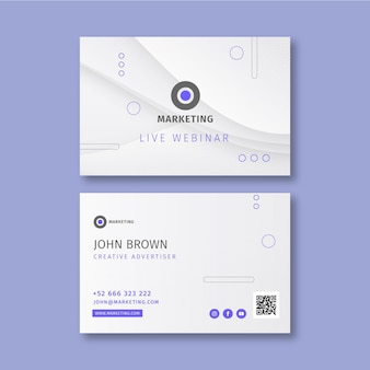 Horizontale visitenkarte des marketinggeschäfts