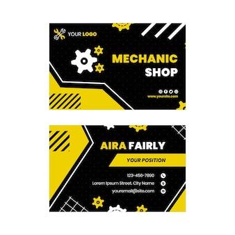 Horizontale visitenkarte des mechanikers