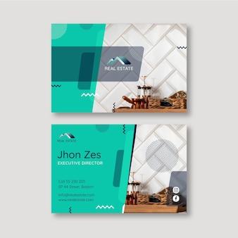 Horizontale visitenkarte für immobilien