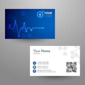 Horizontale visitenkarte, namenskarte oder visitenkarte.