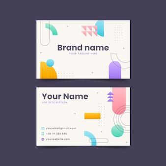 Horizontale visitenkarten mit flachem design