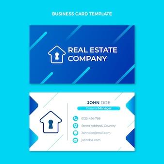Horizontale visitenkartenvorlage für immobilien mit farbverlauf