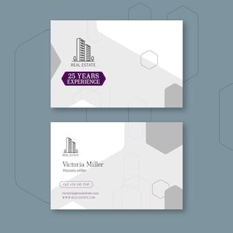 Horizontale visitenkartenvorlage für immobilien