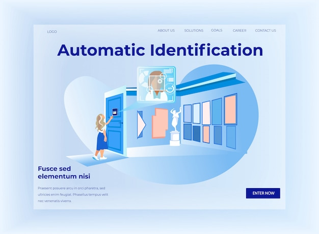 Horizontale website-banner zur automatischen identifizierung