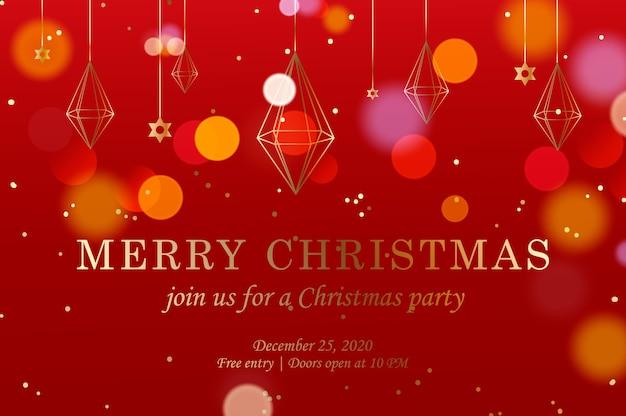 Horizontale weihnachtswebfahne mit rotgoldkristalldekor