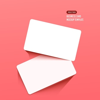 Horizontale weiße visitenkarten