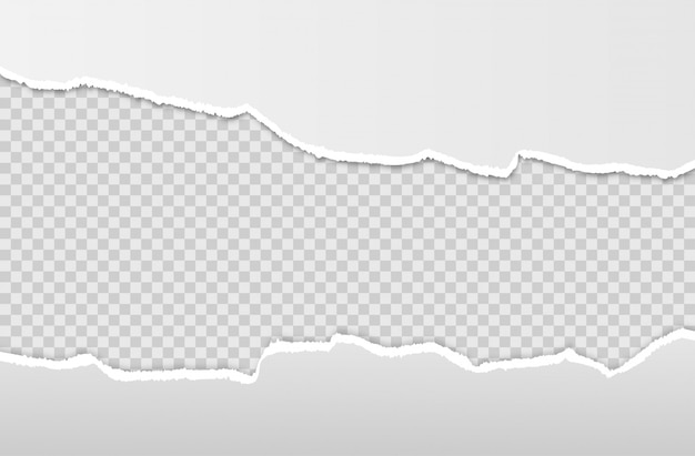 Horizontale zerrissene papierkante.