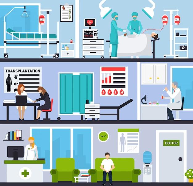 Horizontale zusammensetzungen für die transplantation