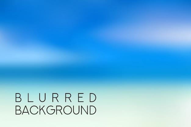 Horizontaler breiter blauer himmel unscharfer hintergrund. sonnenuntergang- und sonnenaufgangmeer verwischte hintergrund