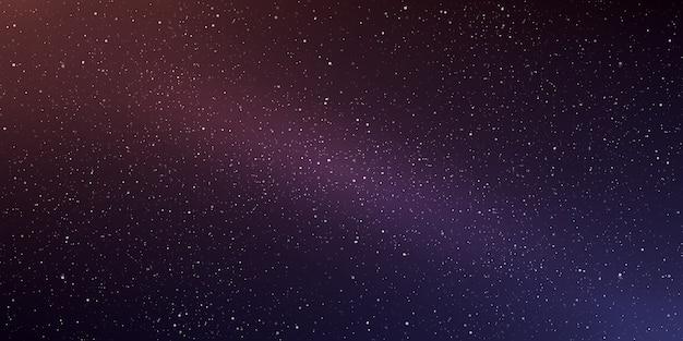 Horizontaler hintergrund der astrologie sternuniversumhintergrund milchstraße