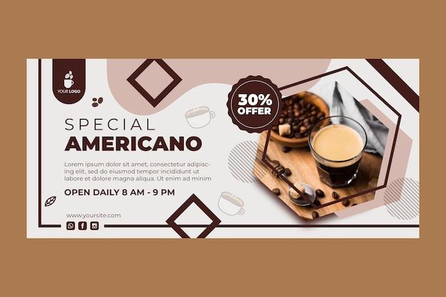 Horizontales banner für coffeeshop