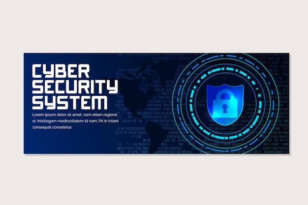 Horizontales banner für cybersicherheit