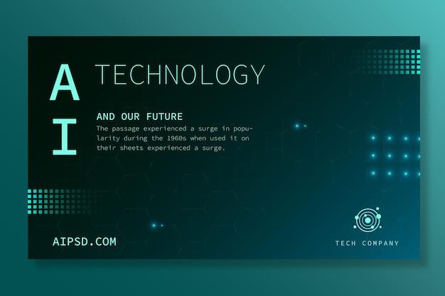 Horizontales banner für künstliche intelligenz