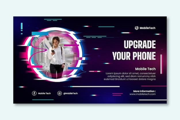 Horizontales banner für mobile technologie