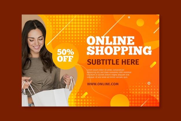 Horizontales banner für online-shopping