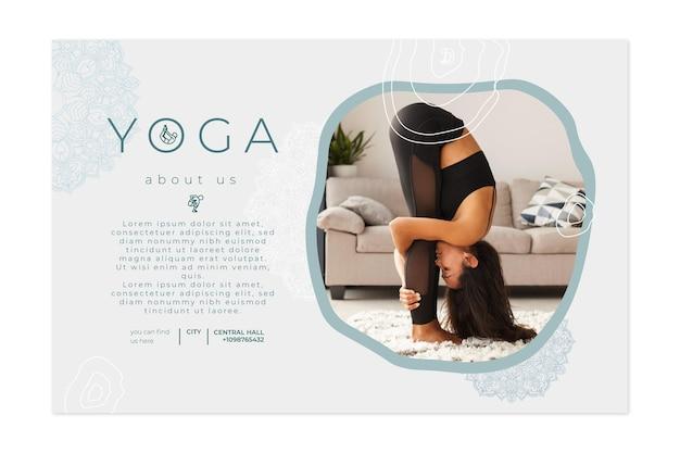 Horizontales banner zum üben von yoga