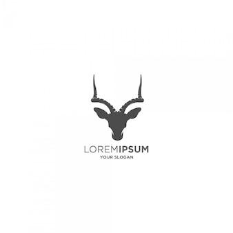 Horn steinbock kopf silhouette logo
