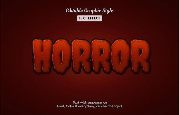 Horror mystery editable text effect
