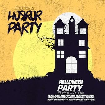 Horror party happy halloween hintergrund
