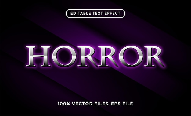 Horrortexteffekt premium-vektor