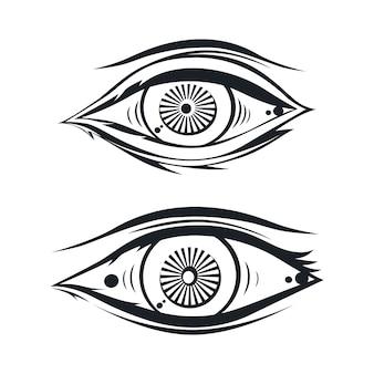 Horus ein auge thema vektor kunst illustration