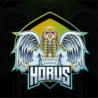 Horus esport maskottchen logo Premium Vektoren