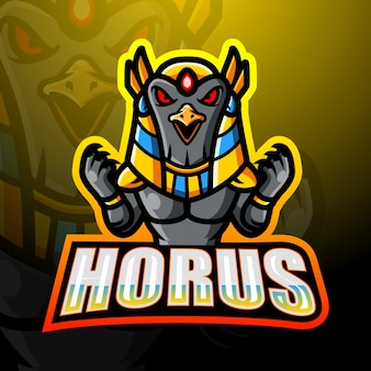 Horus maskottchen esport illustration