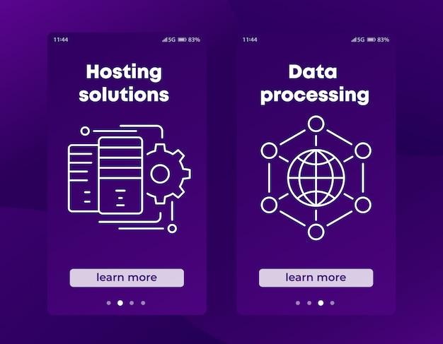 Hosting-lösungsbanner für social media und web