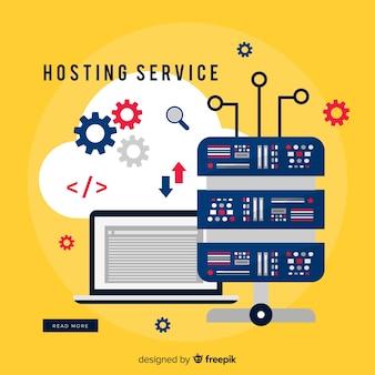 Hosting-service-hintergrundgetriebe