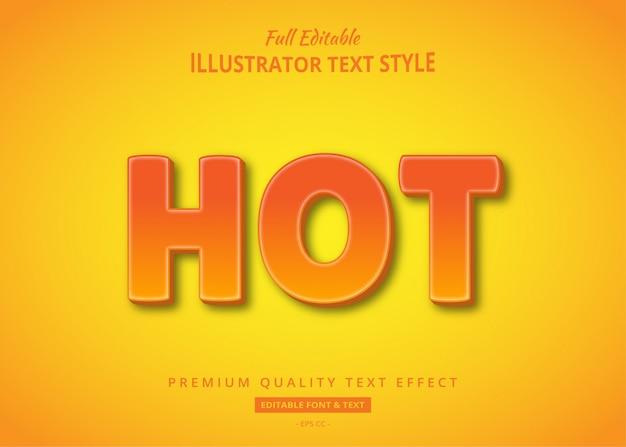 Hot 3d text style effekt premium