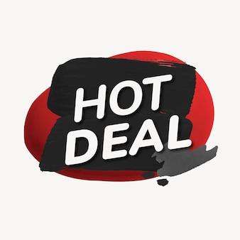 Hot-deal-abzeichen-aufkleber, lacktextur, einkaufsbildvektor