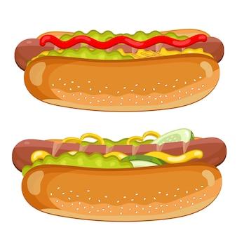 Hot dog auf weiß