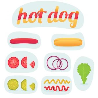 Hot dog in teilen drucken