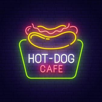 Hot dog leuchtreklame