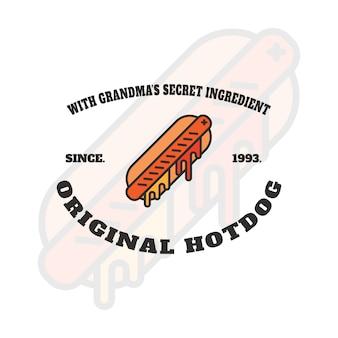 Hot dog-logo-entwurf