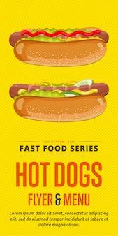 Hot dog sale flyer.
