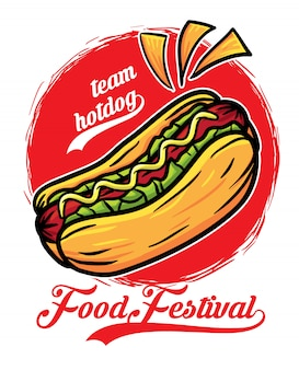 Hot dog sandwich food festival