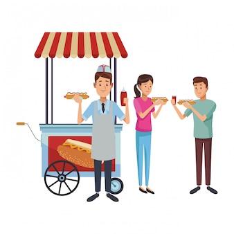 Hot dog stand geschäft